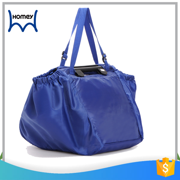 Wholesale wheeled market foldable grocery shopping trolley bag