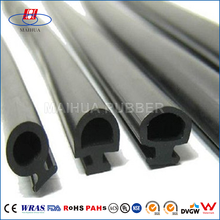 High Security epdm extruded rubber strip sliding door seal