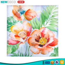New painted floral original canvas art home decor painting