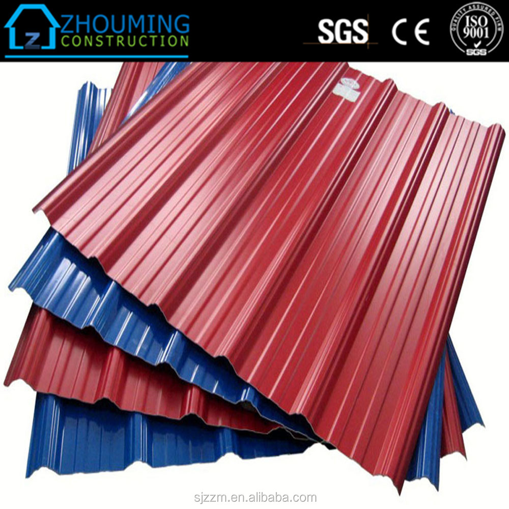 Long Span Color Coated Corrugated Roofing Sheet / Color Profiled Steel Sheets