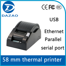 Receipt Printer with Interface USB/Serial/Parallel/Lan, 58 mm Direct Thermal Printer