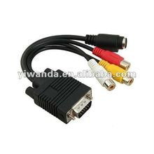 high definition vga to yellow rca male cable