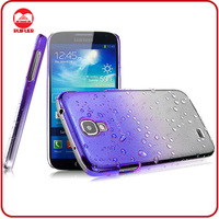 Hot Selling Gradient Color 3D Rain Drop Style Clear Crystal Hard Transparent Phone Case for Samsung Galaxy S4
