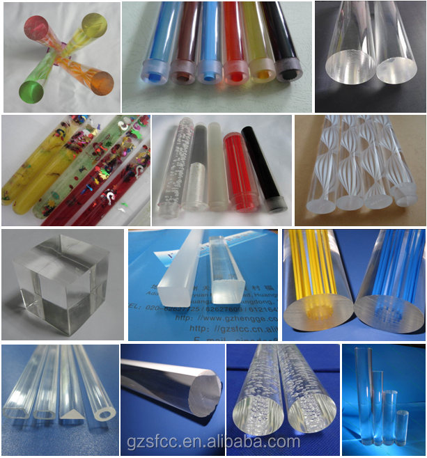 colored big size plastic acrylic pipe