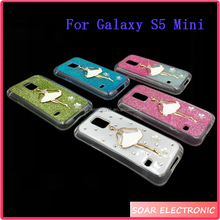 3D Bling Diamond TPU Silicone Case For Samsung Galaxy S5 Mini, Gel Cover For Samsung S5 Mini