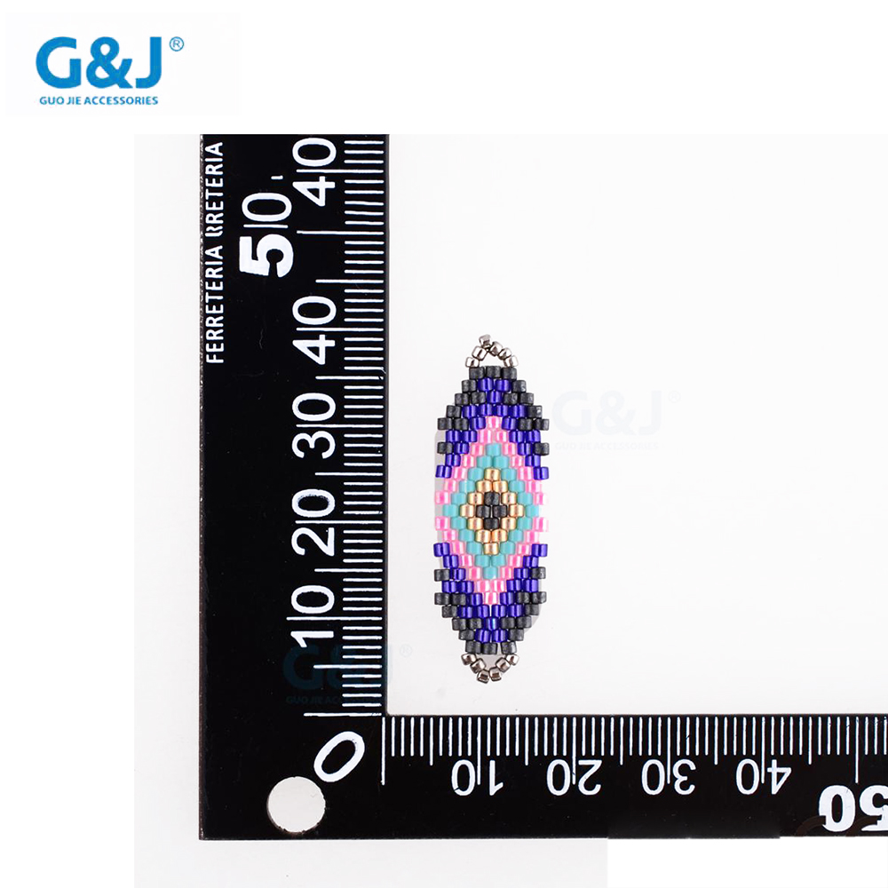 guojie brand wholesale custom rainbow color bead loose DIY round glass beads pendant
