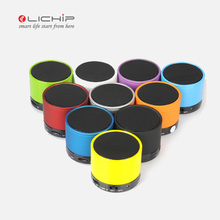 LICHIP L- S10 manual round micro small qi portable wireless parts music ce rohs mini BT blue tooth speaker box