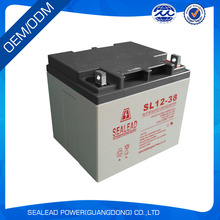 factory price 12v 38ah long life battery for electric golf cart