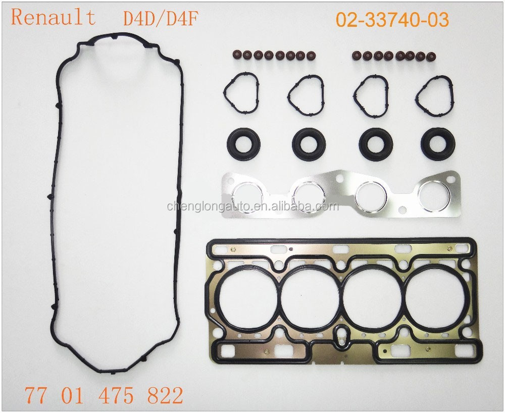High Quality Full Gasket Set For RENAULT D4D/D4F engine auto parts OE NO.7701475822