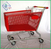 150litres Plastic Food Supermarket Shopping Trolley Cart Bauhaus Supplier
