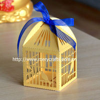 Laser Cut Paper Bird Cage Gold