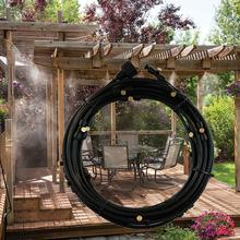 Copper nozzle greenhouse mist system