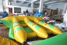 super durable inflatable flying fish towable tube/ fly fish ride
