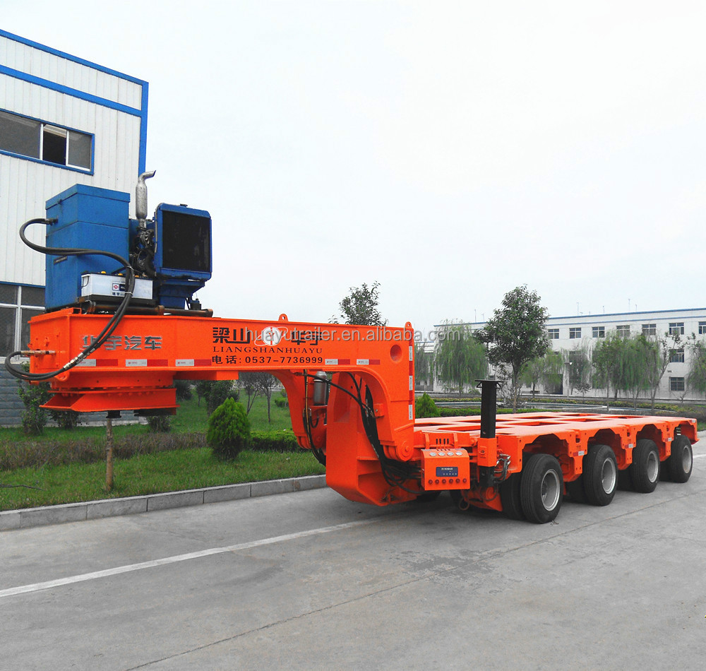 Heavy Duty Machine Special Equipment 8 lines16 axles Hydraulic Module Trailer