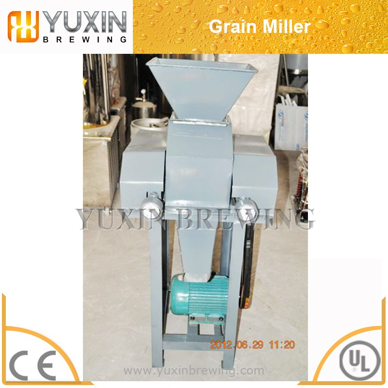 double rolls beer brewing used grain milling machine