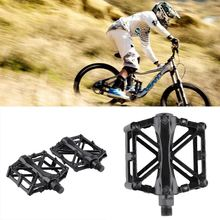 1 Pair Cycling Mountain Aluminum Alloy Flat Platform Bicycle Cycling Riding Pedals Treadle free shipping
