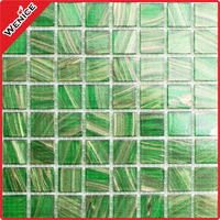 tiffany glass mosaic green chip
