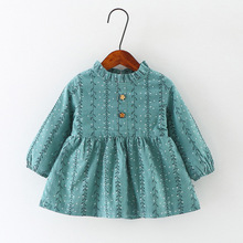 Wholesale Latest Frock Designs Baby Girls Cotton Warm Dresses Of Pictures