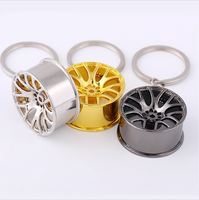Automotive Wheel hub Keychain auto Tire rims key chain auto parts keychain autoparts key ring car key chain wheel key chain