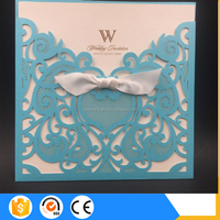 China Manufacturer Fancy English Wedding Invitation Cards Design