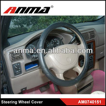 ANMA brand heated steering wheel covers leather