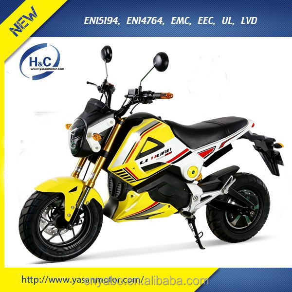 3000W EEC electric moped cheap YMH design electric motorcycle