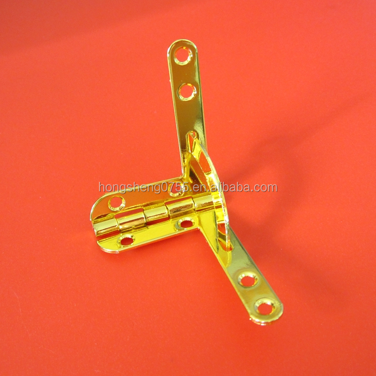 manufacturer supply gold color wooden jewelry box l shape metal quadrant hinge