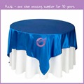 TP08182 High quality lamour satin table cloth for wedding decoration satin table cloth