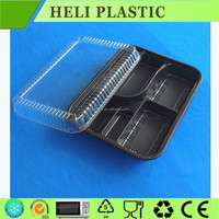 2015 new cheap disposable PET PVC plastic bento box food containers
