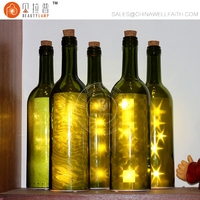 Glass Bottle Punt Coaster Light String Made In China