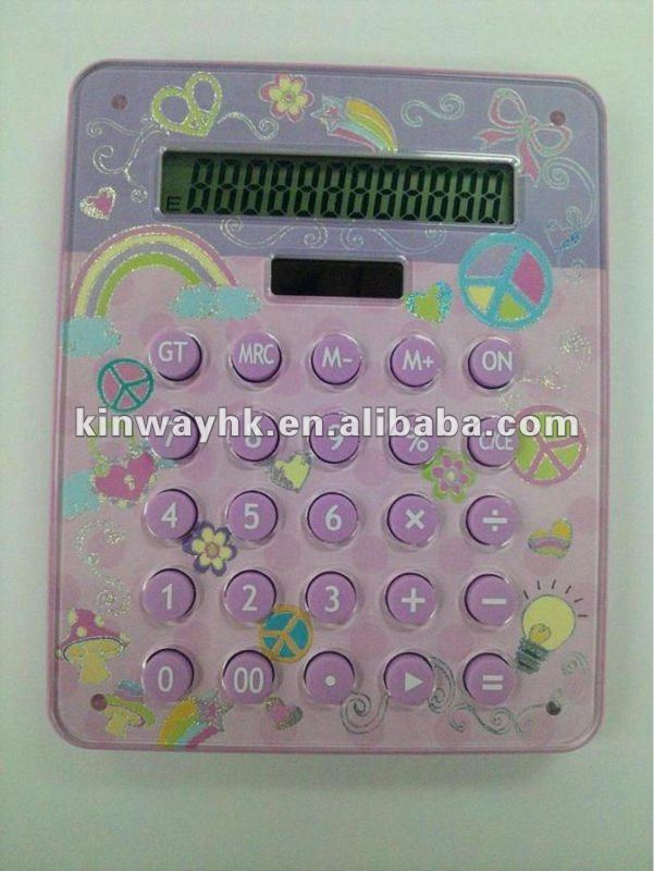 christmas gift fancy crystal electronic 12 digits solar calculator