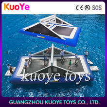 inflatable water trampoline volleyball,new water inflatable toys,inflatable water park kids n adults