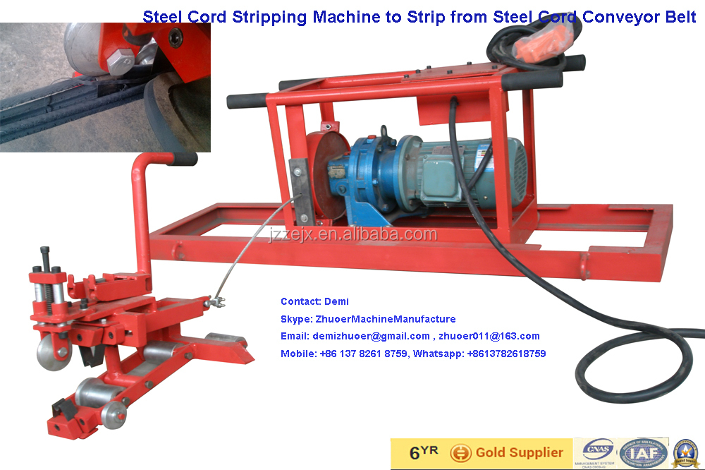 Conveyor Belt Steel Cord Stripper, Conveyor Belt Stripping Machine for Belt Splicing