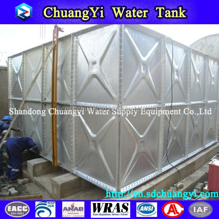 large scale factory sale assembled sectional water tank, assembled sectional water container