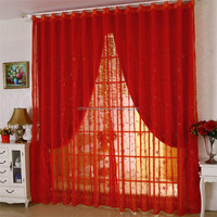 Latest design red double layer voile draping for weddings house