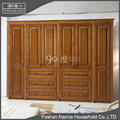 Simple design cherry wood solid wood wardrobe