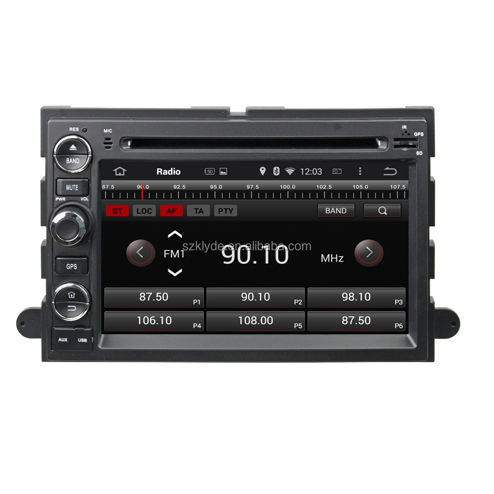 Bluetooth 3G WIFI 2 din android car multimedia player 1024*600 resolution for ford fusion touch screen