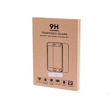 High quality recycle brown kraft paper mobile phone HD lamination screen protector bag