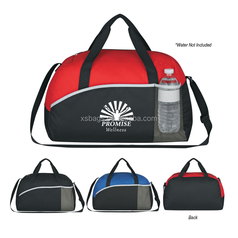 XS-2251 wholesale fancy travel sports duffel bag with bottle holder