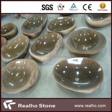 polished brown granite basin