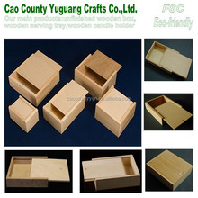 small sliding lid wood box ,sliding lid box,unfinished wood box