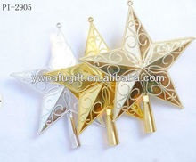 Plastic decoration top star for christmas