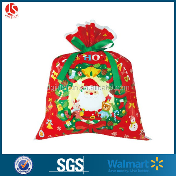 Hot sale Christmas gift wrapping plastic bag