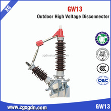 Porcelain high voltage disconnect switch Gw13-72.5 Isolator Switch power supply