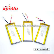 rechargeable 3.7V 2800mAh Lithium polymer battery for tracking device