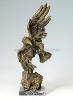 Beautiful eagle flying bronze sculpture