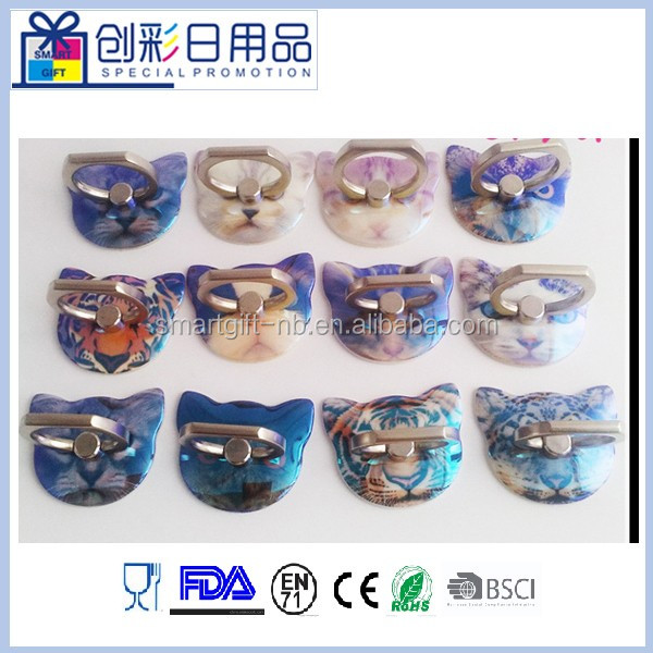 full color printing cusotmer shape phone ring holder for mobile phone customized logo