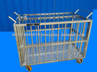 Stainless steel cage livestock/pets with wheels