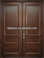 3 Panels Lowes Exterior Wood Doors Double DJ-S8415M