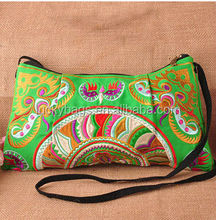 China hotsell messenger bag canvas embroidery bag for lady